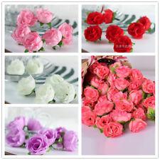 50Pcs Artificial Silk Rose Peony Flower Heads Bulk Craft Wedding Party Decor