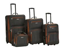 Rockland 4 PC LUGGAGE SET- F32-CHARCOAL Luggage NEW