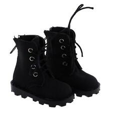 Black Casual Nubuck Leather Lace Up Boots Shoes for 1/4 BJD SD Dress Up ACCS