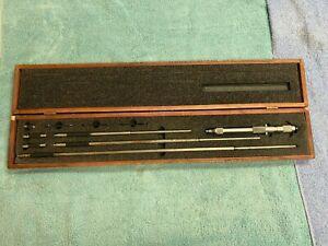 """STARRETT 124 C 8""""- 32"""" Solid Rod Inside Micrometer .001"""" ID Machinist Tool"""