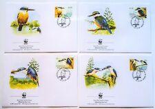 PO FDC (348) Norfolk Islands 2004 Birds WWF - covers