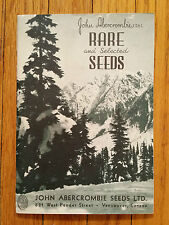 Abercrombie Rare and Selected Seeds Catalog, Vancouver Canada 1930s? flowers