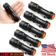 6X Mini CREE Q5 7W 1200Lm LED Flashlight Torch Lamp Adjustable Focus Zoom Light