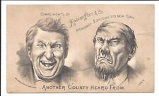 Rogers Peet (Clothiers) Trade Card, Play on Election Returns, c1880s