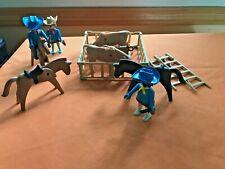 Playmobil  Western Figures Horses Cattle Vintage Geobra