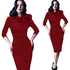 Women Sexy Bandage Bodycon Pencil Dress Evening Cocktail Club Party Dress Size M