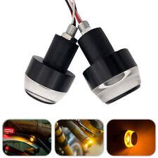 2Pc Motorcycle Handlebar Turn Signal LED Light Lamp Indicator Handle Blinker