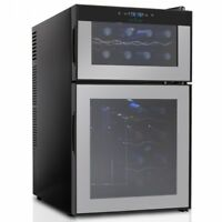 Wine Cellar & Can Beverage Cooler Refrigerator with Digital Touchscreen Controls