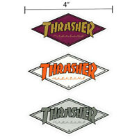 "Thrasher Magazine Diamond Logo Sticker 4"" Skateboard Decal 3 Color Choices New"