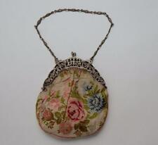 Fratelli Coppini Antique Art Nouveau Purse Handbag with 800 Silver Cherubs Frame