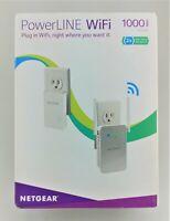 NETGEAR PLW1000-100NAS PowerLINE 1000mbps WiFi Gigabit Port Fair Shape