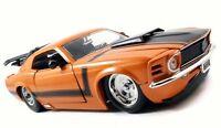 FORD MUSTANG 429 1970 1:24 Car Metal Model Die Cast Miniature Models Orange Jada