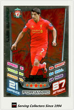 2012-13 Match Attax Star Player Foil Card #366 Luis Suarez (Liverpool)