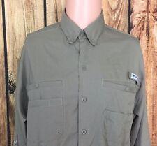Medium PFG Vented Columbia Fishing Shirt Long Sleeve Omni Shade Tan