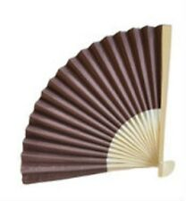 100 Chocolate BROWN Paper Fans Outdoor Wedding Favors