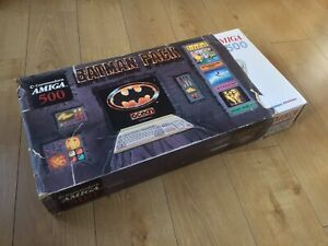 Stunning Batman Pack Commodore Amiga 500 Red LED 1988, 1MB Ram Complete & Tested