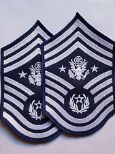 1 PAAR U.S. AIR FORCE AUFNÄHER PATCH CHIEF MASTER SERGEANT OF THE AIR FORCE