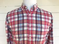 J. CREW Men's Medium Long Sleeve Button-Down 100% Cotton Multi-Color Plaid Shirt