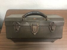 kennedy cantilever tool box. very early vintage kennedy cantilever toolbox/fishing box unique style rare tool