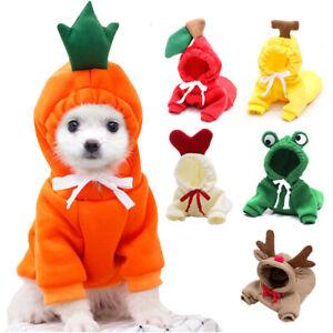 Warm Dog Winter Clothes Cute Fruit Dog Coat Hoodies Pet Dogs Cat Costume Jacket