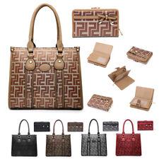 Señoras bolso de mano Cartera + Geométrico Diseñador Niñas Conjunto de regalo bandolera MA36562