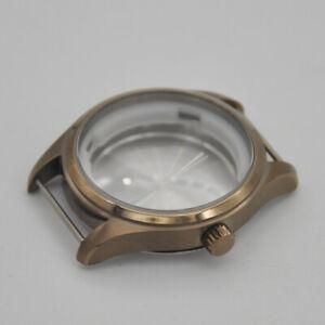40mm SS watch Case Vintage bronze plated fit ETA 2824 Japan seko movement men