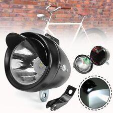 Head Light Bicycle Bike Front Vintage Flashlight Lamp LED Metal Shell Bracket