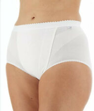 Womens Sloggi 2x Maxi Pack Control Cotton Briefs White Size UK 14