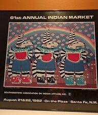HARRY FONSECA COYOTE KOSHARE  POSTER  61ST ANNUAL INDIAN MARKET SANTA FE 1982