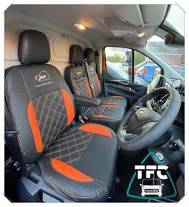 Ford Transit Custom SEAT COVERS ECO LEATHER  DIAMOND STITCHING Seats 2+1