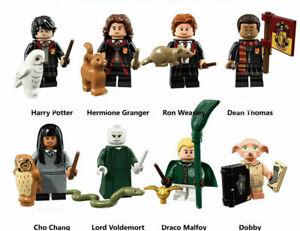 8 PCS Harry Potter Custom Mini Figures Voldemort, Hermoine Dobby Block Fit New
