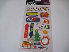 Scrapbooking Stickers Sticko Running Marathon Shoe Start Finish Stop Watch More