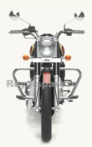 SILVER TRAPEZIUM ENGINE GUARD ROYAL ENFIELD NEW CLASSIC & METEOR 350