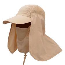 Women Men Outdoor Sport Fishing Hiking Hat UV Sun Cap Protection Face Neck Flap
