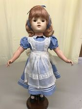 "VTG 18"" MADAME ALEXANDER ALICE IN WONDERLAND DOLL BEAUTIFUL  EXCELLENT CONDITION"