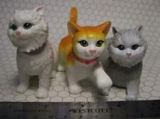 "Barbie Doll Pet Shop CAT/KITTENS JOINTED BOBBLE HEAD KITTIES LOT About 3"" long"