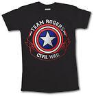 Civil War T Shirt Captain America Iron Man Team Stark Rogers Men Top Marvel Foil