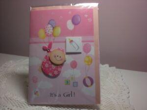 For Art Sake Greeting Card - New Baby Girl
