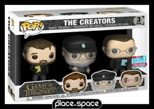 GAME OF THRONES - THE CREATORS NYCC2018 FUNKO POP! VINYL FIGURE 3 PACK