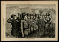 West Point Military Academy New York morning call 1871 wood engraved print