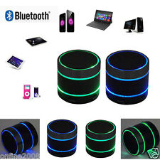 Mini Bluetooth Wireless Portable Speaker With LED Light For iPhone/iPad MP3/4 US
