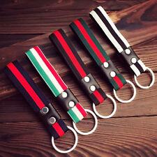 Men Fashion Leather Metal Car Keyring Keychain Purse Bag Key Chain Ring Keyfob G