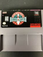 Brunswick World Tournament of Champions (Super Nintendo SNES) Tested Working