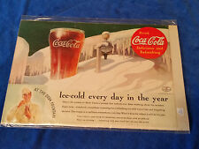 "1935 Origianl Coca Cola Magazine ad Ice Cold Glass 6 3/4""x10"""