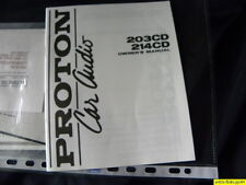 Proton Car Audio 203CD / 214CD  Owner's Manual  Operating Instructions  New