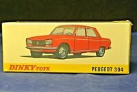 MINT BNIB Reproduction Dinky 1428 Peugeot 304 Saloon by Atlas Editions