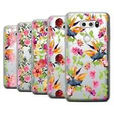 STUFF4 Gel/TPU Case/Cover for LG V35 ThinQ/Classic Pink Floral