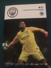 Man City FC v Wolverhampton Wanderers FC Programme (Season 2018/2019)