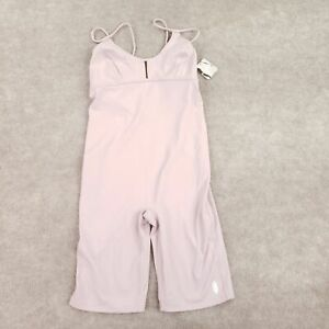 Free People Movement Womens Glow One Piece Bodysuit Pink Stretch Backless S New