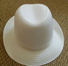 Nuevo Blanco Smart Formal Fedora Sombrero Damas Para Hombre Talla industria alimentaria
